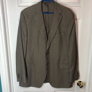 Ermenegildo Zegna Brown Cotton Sport Coat Mens 56R